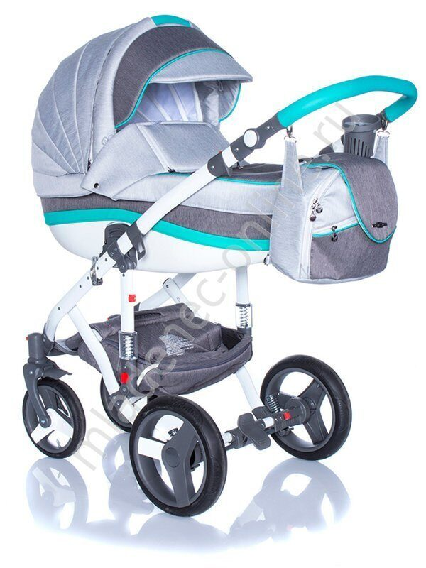 Коляска 2 в 1 BeBe-mobile MOVO R9 (Mint-Grey)