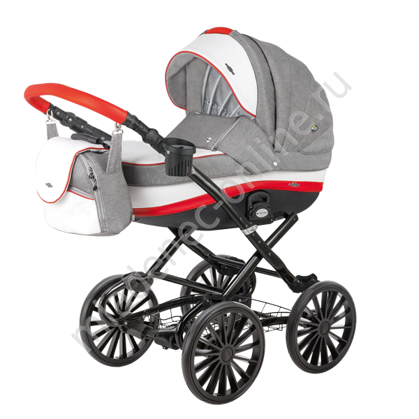 Коляска Bebe-Mobile Ines R2 (Red-Graphite)